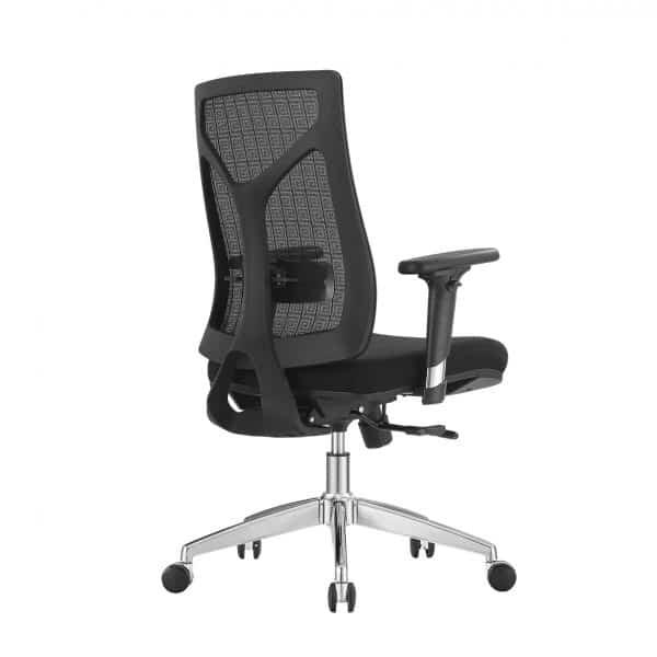 Wilson ergonomische bureaustoel netweave chroom (NIEUW)